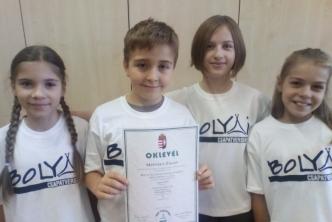 Gratulálunk a Bolyai anyanyelvi csapatverseny III. helyezett résztvevőinek!