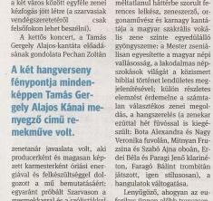 Szeged-Szarvas: zenei kézfogás, a Délmagyarország napilapban írták rólunk